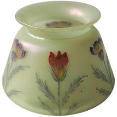 Art Nouveau Loetz Enameled Arcadia Vase