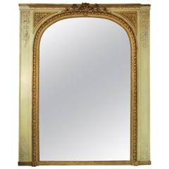 Antique Louis XVI Style Trumeau Mirror