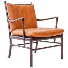 """""""Colonial"""" PJ 149 Chair in Rosewood and Cognac Leather"""