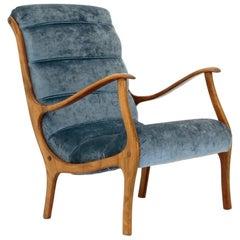 Mitzi Velvet Armchair by Ezio Longhi for Elam