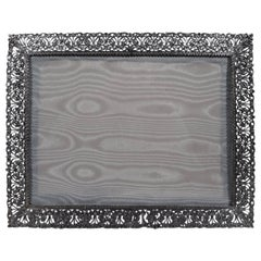 Italian Handmade Sterling Silver Filigree Picture Frame