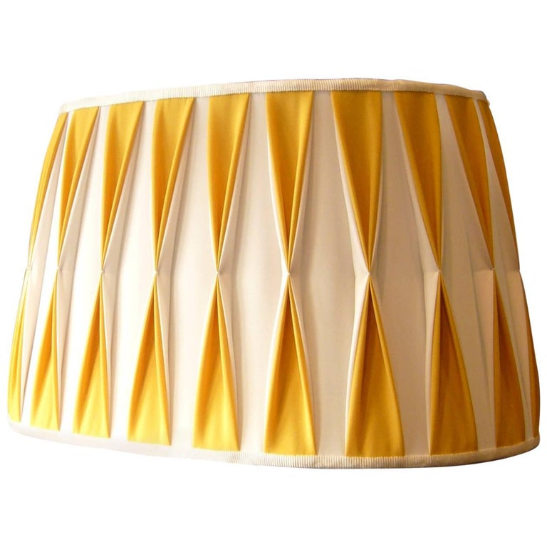 Wall Lamp Shade Handmade Artisan Italy Customizable Yellow White For Sale at 1stdibs