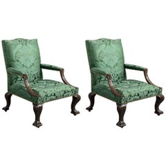Pair of George II Library Chairs
