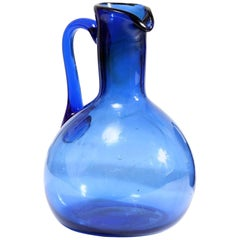 19th Century Blue Glass Jug