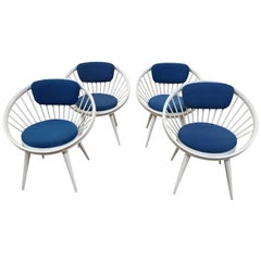 Swedish Circle Chairs by Yngve Ekstrom from 1960s