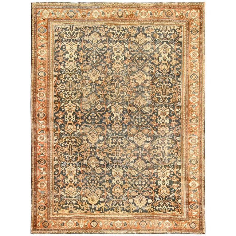 Antique Shabby Chic Mahal Persian Rug