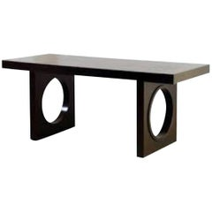 India Mahdavi Full Moon Desk Table with One Drawer