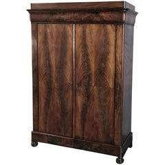 19th Century French Louis Philippe Mahogany Armoire