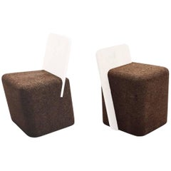 Toni Grilo Cork Cut Chair and Cut Stool