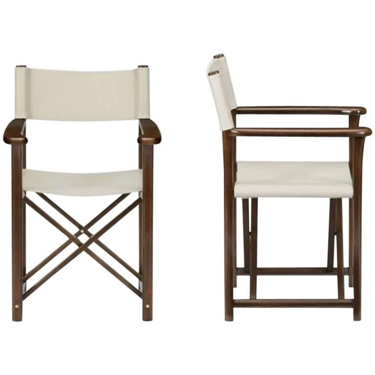 Two Armani Casa Director's Chair Dustin Wood Version For Sale