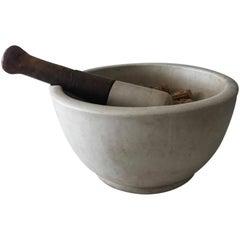Antique French Limestone Medicine Bowl
