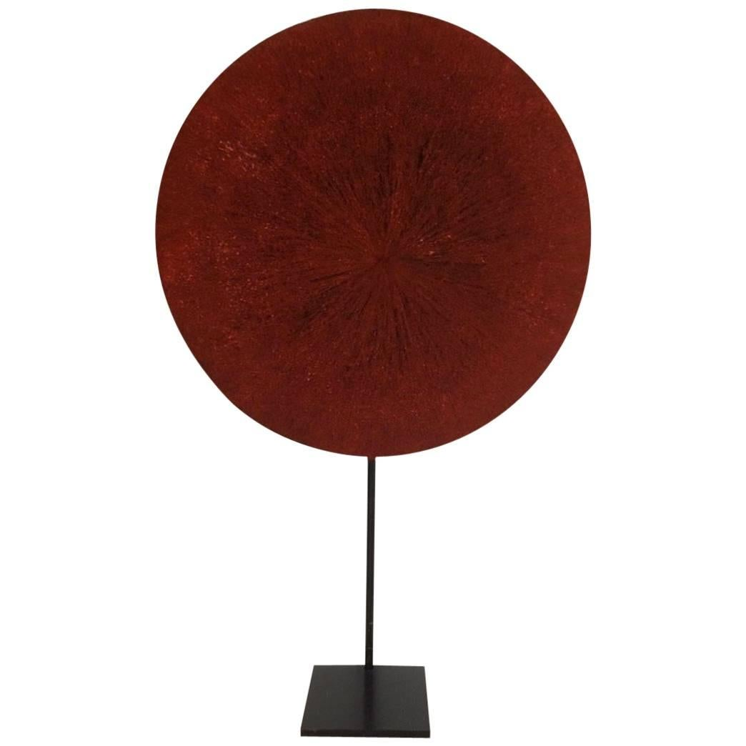 Isicholo Bridal Red-Ocher Hat from South Africa's Zulu Tribe