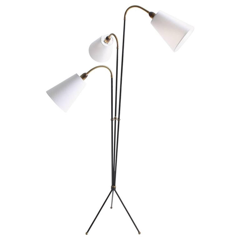 Elegant Floor Lamp by Holm Sorensen