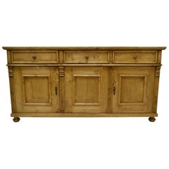 Pine Three-Door Sideboard