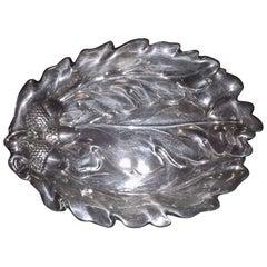 Sterling Silver Oak Leaf Bowl