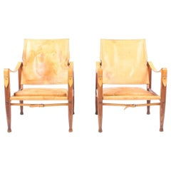 Pair of Pristine Safari Chairs by Klint
