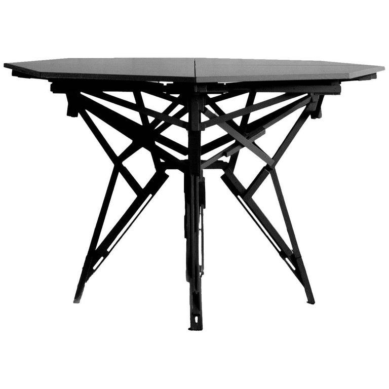 Technical Cnstr Black Table by Paul Heijnen, Handmade in Netherlands