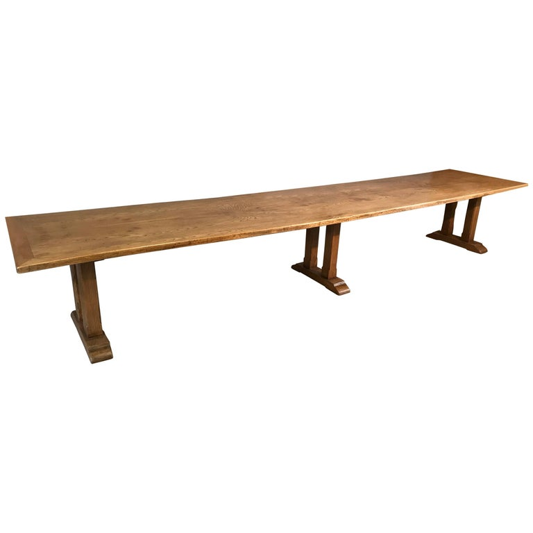 Exceptional Elm Refectory Table