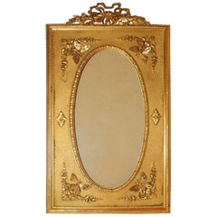 Fine Vintage French Bow Doré Bronze Butterfly Picture Frame
