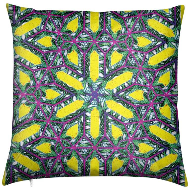 Buzios Print Deco Pillow by Lolita Lorenzo Home Collection For Sale