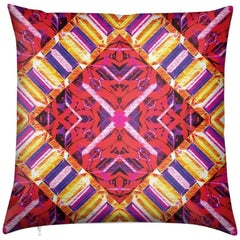 Curitiba Print Pink Mod Pillow by Lolita Lorenzo Home Collection
