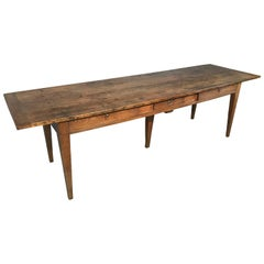 Antique Oak Serving Table