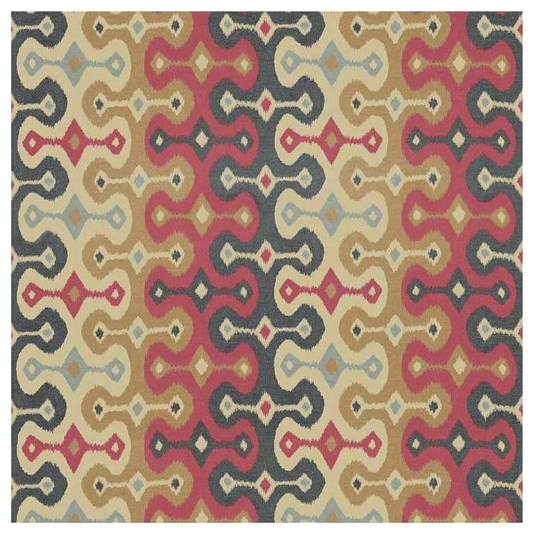 Schumacher Martyn Lawrence Bullard Darya Ikat Sidewall Striped Spice Wallpaper