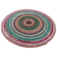 Early 20th Century Braided Round Rug