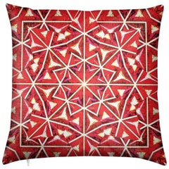 Bahia Print Nandi Flame Pillow by Lolita Lorenzo Home Collection