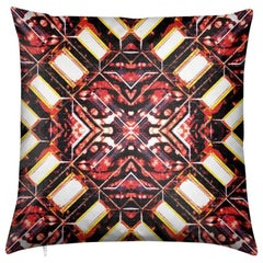 Curitiba Print Zebra Batik Pillow by Lolita Lorenzo Home Collection