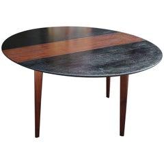 Modern Edward Wormley for Dunbar Two-Tone Walnut Drop-Leaf Dining Table