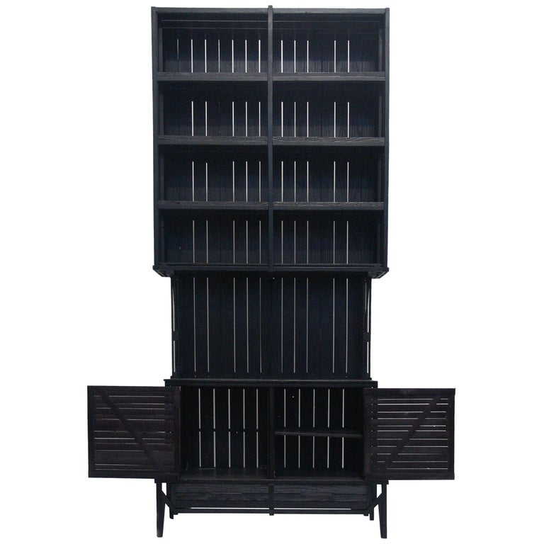 Tall Cnstr Cabinet by Paul Heijnen, Handmade in Netherlands For Sale