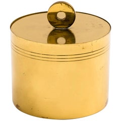 Tommi Parzinger for Dorlyn Decorative Brass Lidded Box with Divider Insert