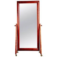 Italian Modern Floor Standing Cheval Mirror, circa 1960