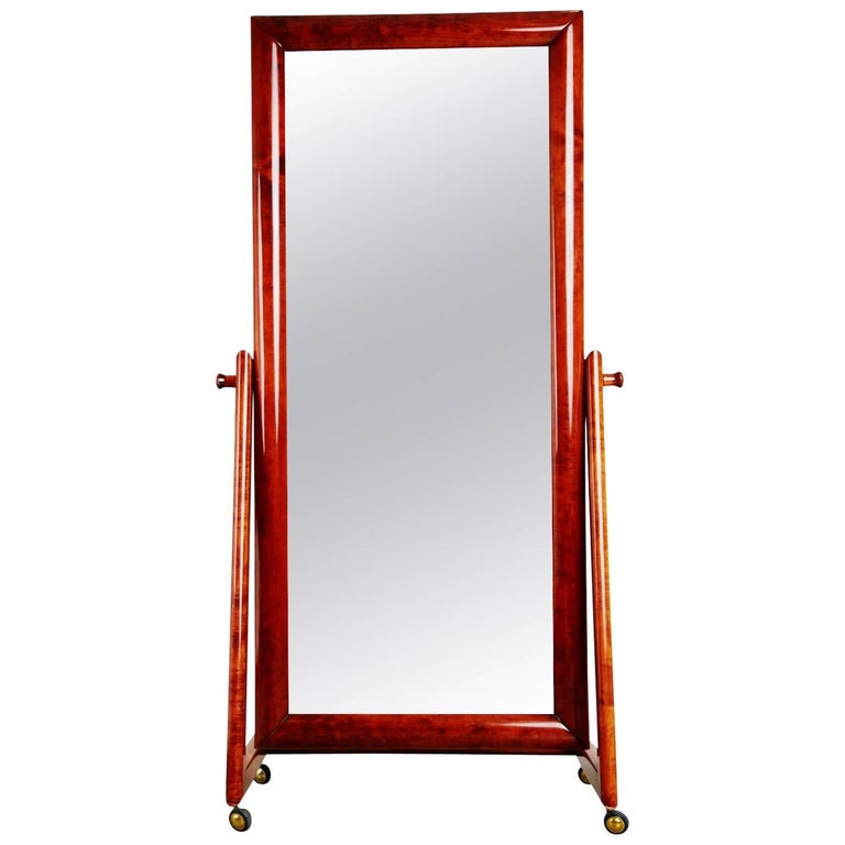 Italian modern floor standing cheval mirror circa 1960 for Floor mirrors for sale