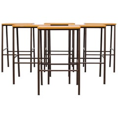 Industrial Wide Seat Stools or Side Tables