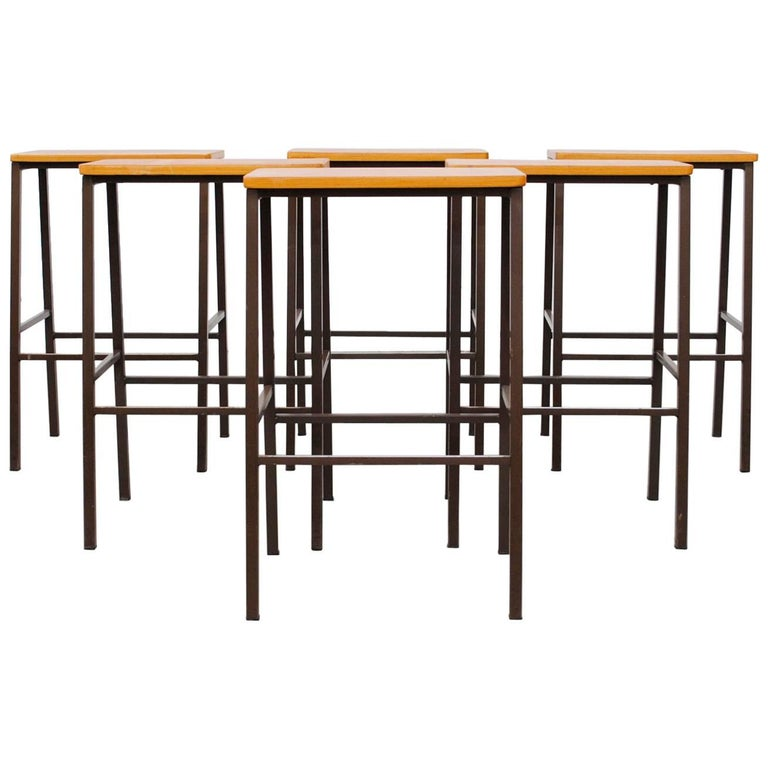 Industrial wide seat stools or side tables for sale at 1stdibs for Wide side table