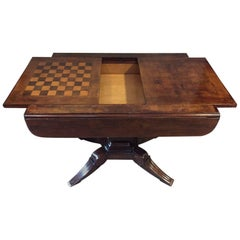 Italian Games / Chess Parquetry Top Table, 19th Century