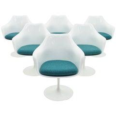 Set of Six Eero Saarinen Tulip Swivel Chairs, Knoll International