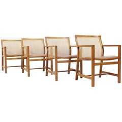 Set of Four Danish Armchairs by Rud Thygesen & Johnny Sørensen, 1980s