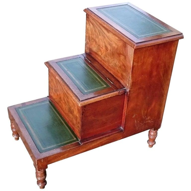 Early 19th Century Regency Mahogany Bedroom Step Commode