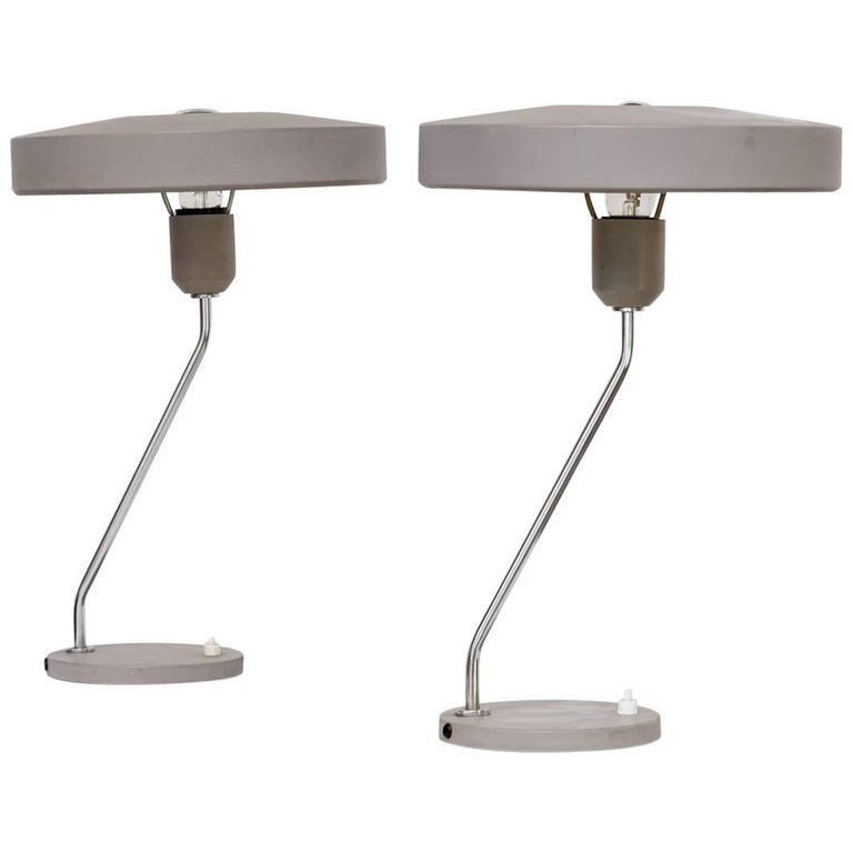 1960s Louis Kalff Table Lamp for Philips, Set of Two