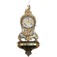 Important 1800s French Huge Boulle Bracket Clock and Bracket, Provenance