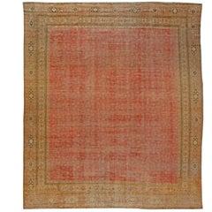 Antique Turkish Hereke Rug, 'Size Adjusted'
