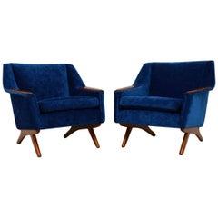 1960s Pair of Scandinavian Vintage Armchairs by Westnofa