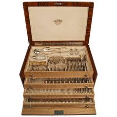 Silver 800 Cutlery Set Klinkosch Austria 191 Pieces Form 184  12 Persons 1890