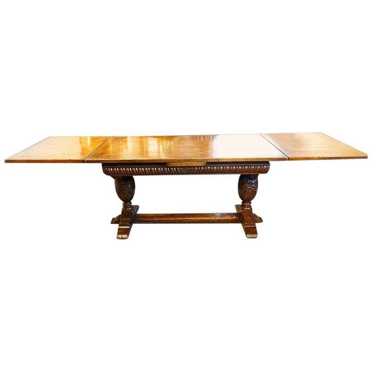 Harrods Oak Refectory Draw Leaf Dining Table 1
