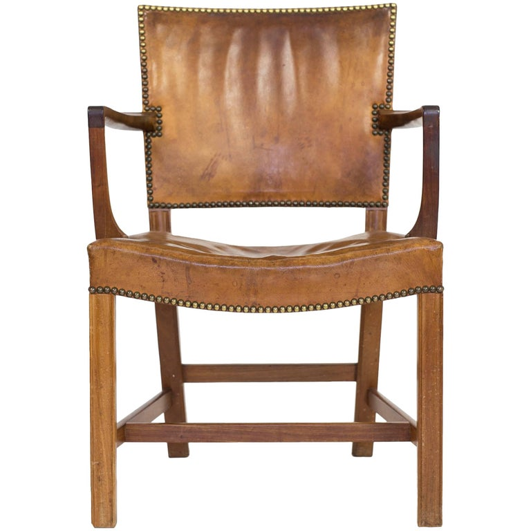 Early Kaare Klint Armchair, 1930, in Cuban Mahogany and Nigerian Leather