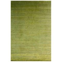 Green Silk and Wool Area Rug by Joseph Carini