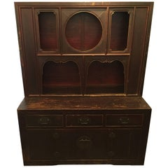 19th Century Qing Dynasty Unusual Shanxi Tow-Part Hutch
